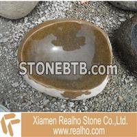 nature river stone sink