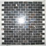 Black marble mosaic tiles MT-21