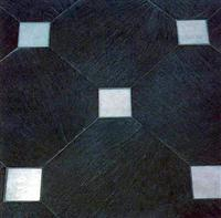 Natural Cleft Slate Without Corners With Marble Squares