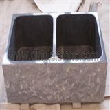 Black Stone Sink, Granite Black Double Basin