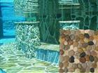 Mixed swimming pool pebble tile
