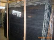 Wooden Black Marble Slab