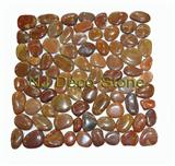 red pebble tile high polished