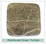 Rainforest Green Marble -Tumbled