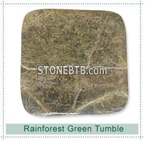 Rainforest Green Marble Tumbled