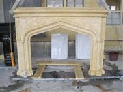 Yellow Sandstone Fireplace