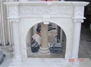 Guangxi White Marble Fireplace Mantel