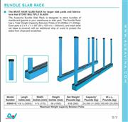 SLAB RACK SRK10R WITH RUBBER LINING