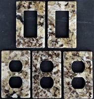 Stone Switch Plate Cover Granite  Outlet Cover Wall Plate