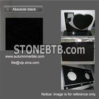 Absolute Black Granite Shanxi Black Countertop Vanitytop  Tile Slab Monument
