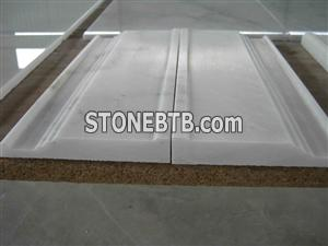Carrara white marble moulding, white marble border ,stone liners, marble pencil liner