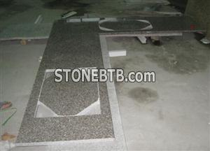 G648 Countertop  Peach Red Countertop   G687 Slab  Granite Tile