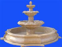 beige marble garden home fountain
