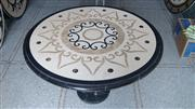 Marble Waterjet Inlay Tabletop