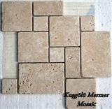 Tumbled Travertine Mosaic K30