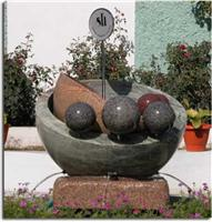 Granite Stone Ball Fountain 05