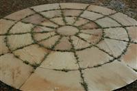 Tint Mint Sandstone Circle paving stone