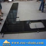 Black granite countertop, kitchen top