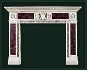 White Marble Fireplace Mantel & Surround