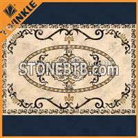 indoor floor paving stone medallion