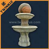 decorative natural stone floating ball