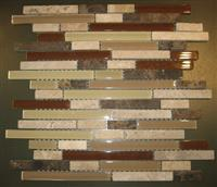 Glass stone mosaic pattern