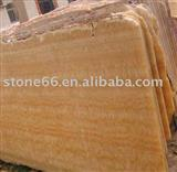 Resin Yellow Natural Marble Slab