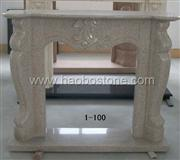 Granite natural stone fireplace mantel 1-1