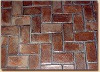 Handmade Clay Floor Tile -  Herringbone Floor Tile