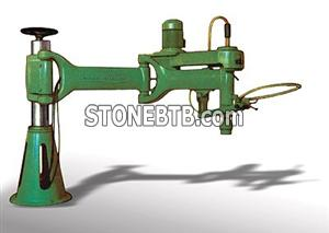 Articulated lapping and polishing machine pedestal type