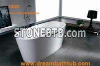 Stone resin bathtub