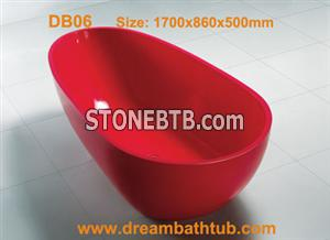 Man-made stone bathtub