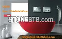 Resin stone bathtub