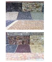 Driveways, paths, borders and flower beds