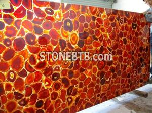 Red Composite Agate Slab Natural Agate Slab
