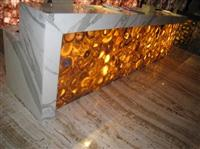 Yellow Amber Stone, Countertop, Luxury Stone