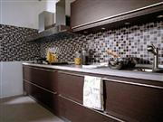 Kitchen Backsplash with Glass Mosaic