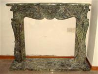Rain Forest Green Fireplace Mantel