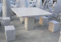 Granite bench and table