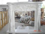 Carving Flower Fireplace Frame