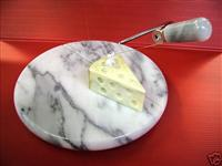 Round-Cutting Board in white marble