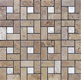 Serene Travertine Mosaic
