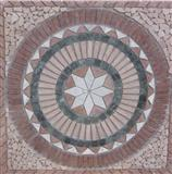 Rosette - Travertine Medallion
