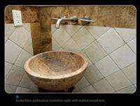 Sink Walnut travertine
