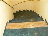 Green Marble and Gold Granite Stairs
