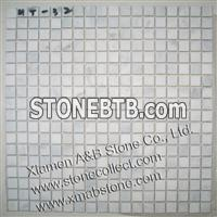 Snow White marble mosaic tiles MT-32