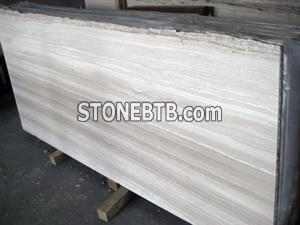 White Wood Vein Slab