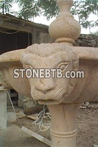Limestone Carved Fountain