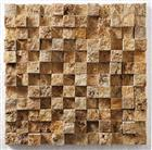 Travertine Mosaics - 3D Gold