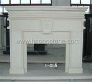 Limestone natural stone fireplace mantel 1-0